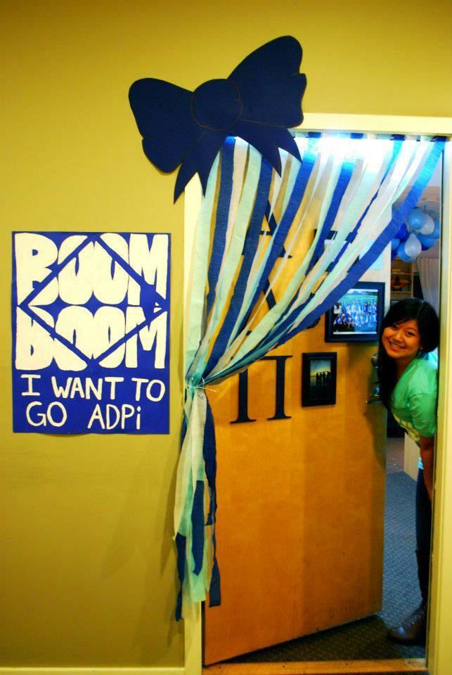 Cute Alpha Delta Pi Sorority Recruitment  decoration!