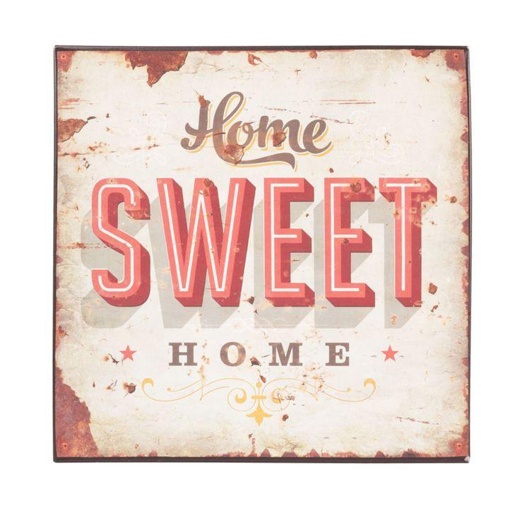 Cedule HOME SWEET HOME. Cena: 267 Kc. Nakupujte na www.almara-shop.cz.