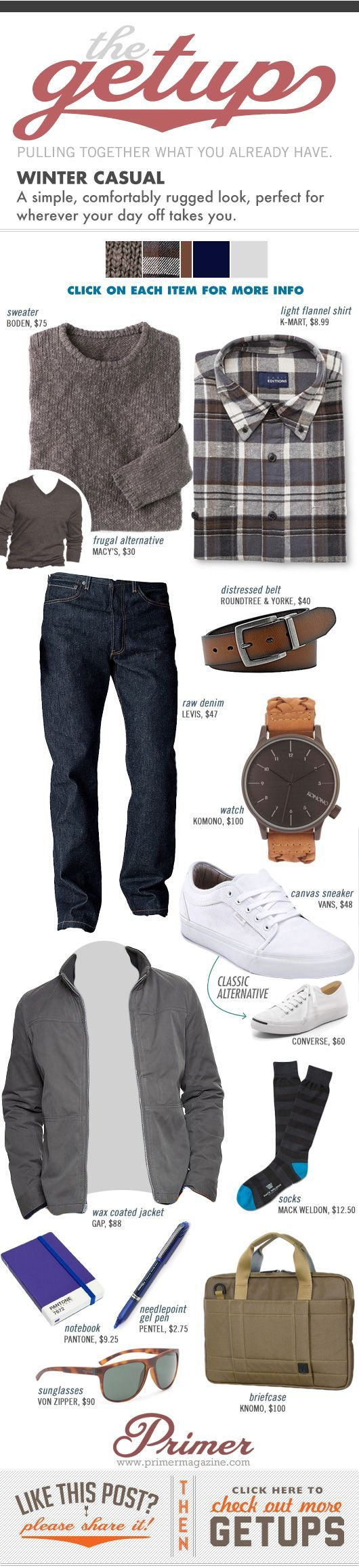 The Getup: Winter Casual - Primer #winter #casual #stylish