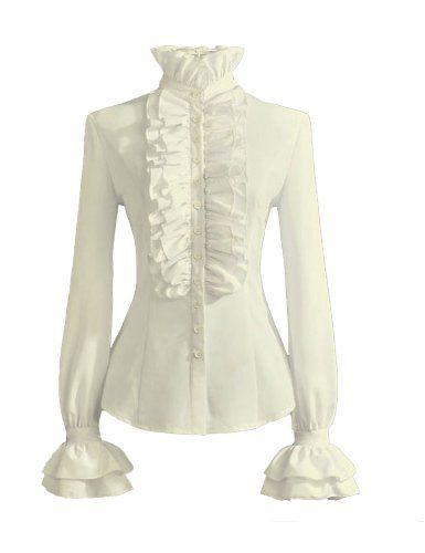 PrettyGuide Women Stand-Up Collar Lotus Ruffle Shirts Blouse S White PrettyGuide http://www.amazon.com/dp/B00XOK23TO/ref=cm_sw_r_pi_dp_A3j3vb1G82FKQ