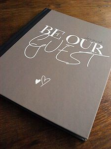"Disney ""Beauty and the Beast"" guest book"