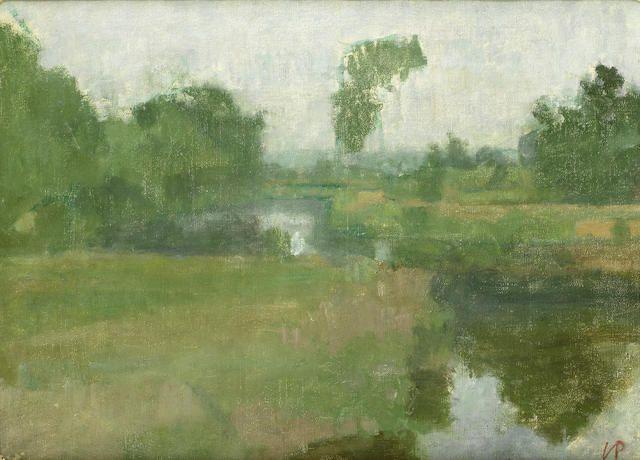 Victor Pasmore RA (British, 1908-1998) Riverbanks along the Medway