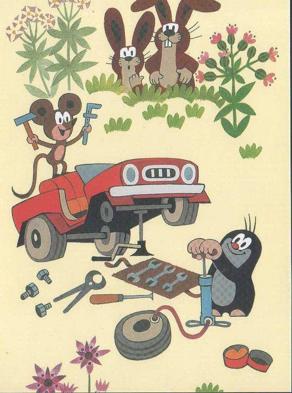 (2014-07) Muldvarpen og musen reparerer bil