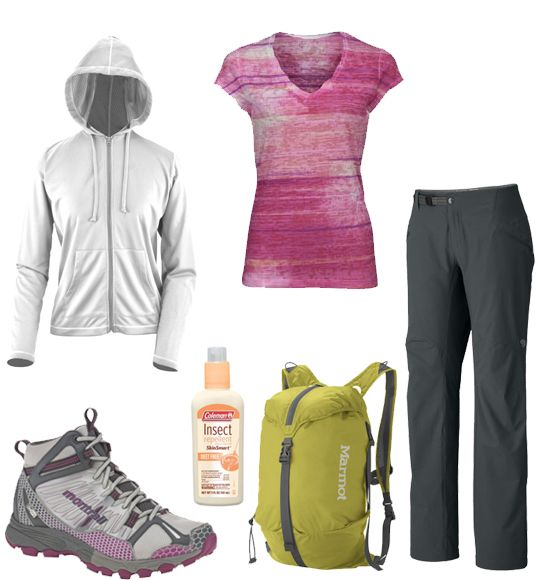 Ladies hiking outfit.