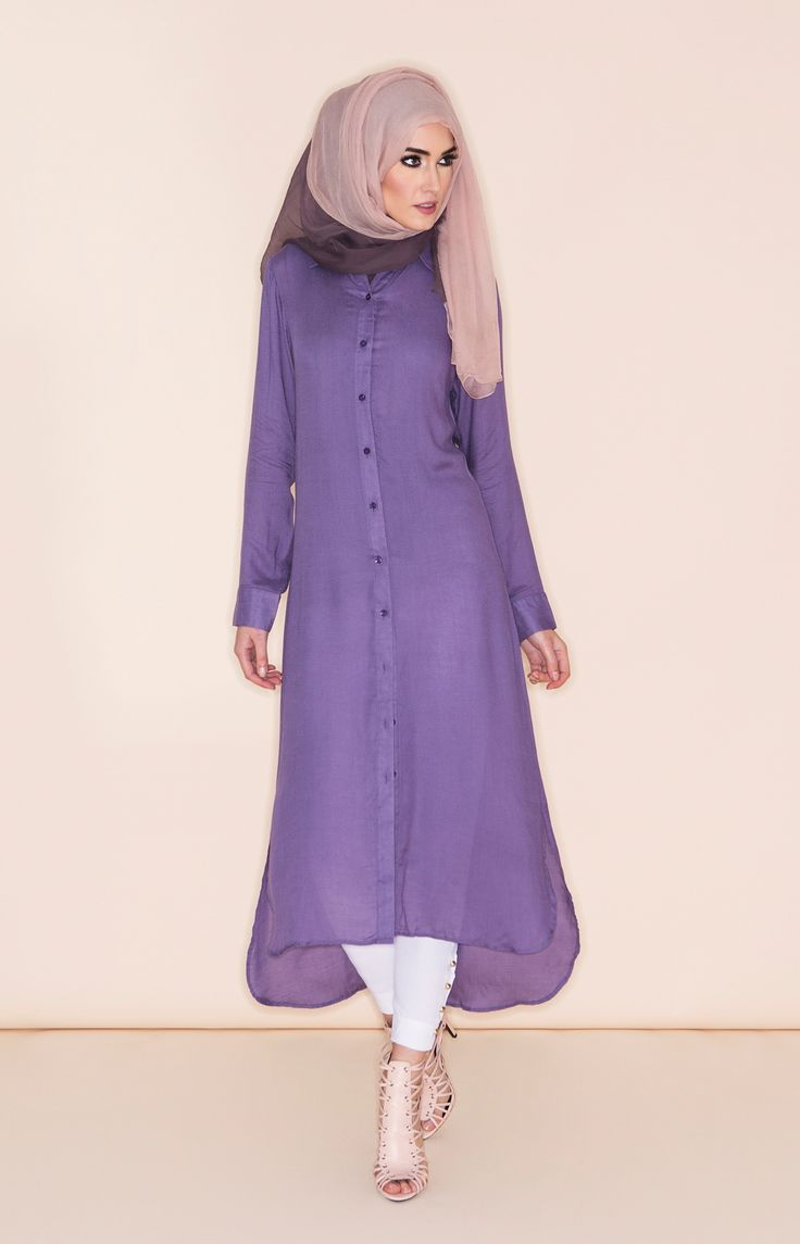 Perfect Purple Shirt Dress | Aab
