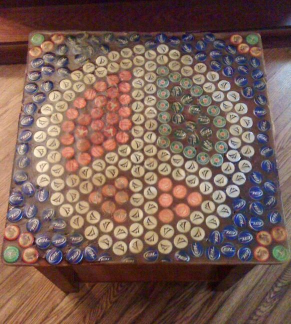 18 Best Round Bottle Cap Table Images On