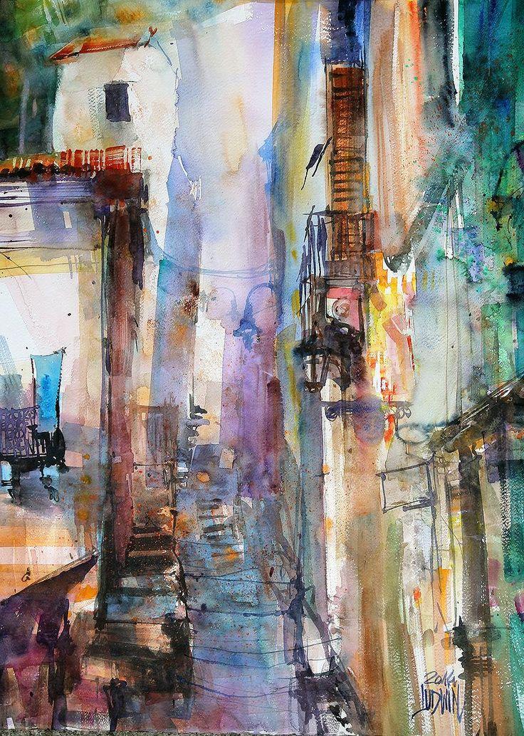 Krzysztof Ludwin - Scicli, Sicilia #watercolor jd
