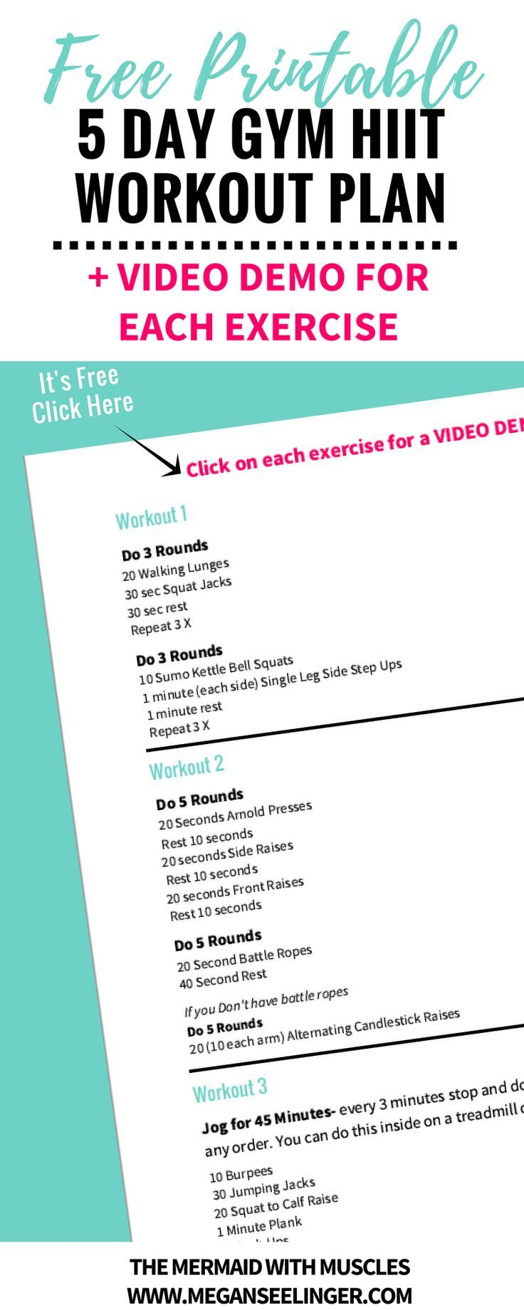 photo regarding Printable Hiit Workouts identify 5 Working day HIIT Exercise routine Software- 20 Minutes or Fewer [Printable] ღ
