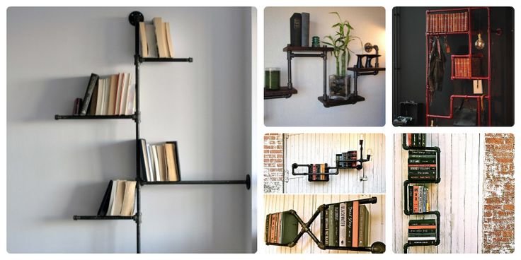 Repisas tubos buscar con google repisa pinterest for Libro para hacer muebles