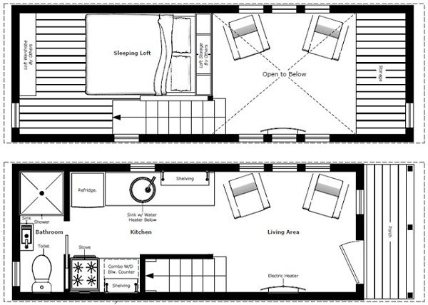 76 best tiny house floor plans - trailers images on pinterest