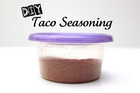 DIY: Taco Seasoning (I'd leave out the salt...the point for me was no sodium.)
