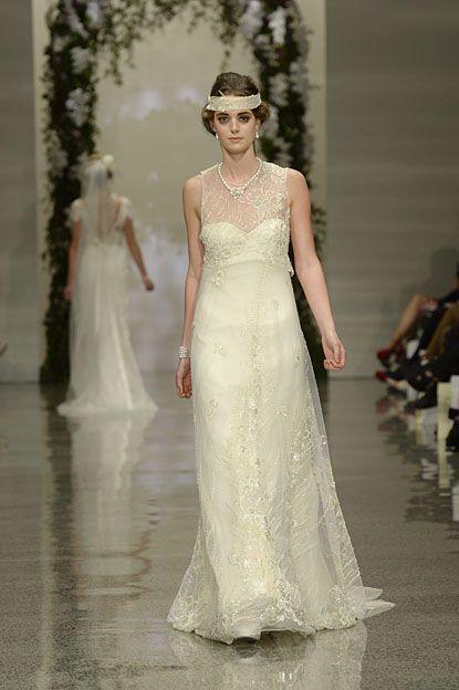 Golden lace dress.