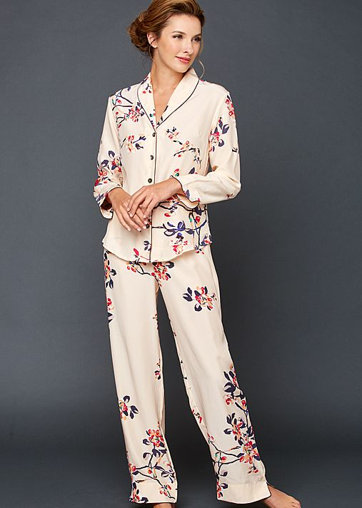 Natalya Silk Print Pajamas -  Petite
