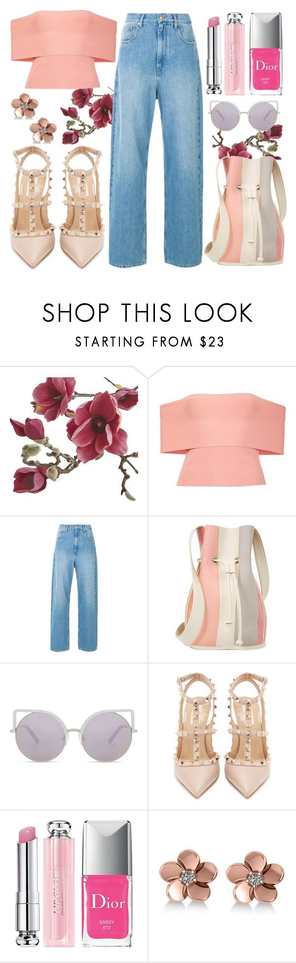 """""""Flowers In The Garden"""" by annelisamilano ❤ liked on Polyvore featuring Crate and Barrel, T By Alexander Wang, 10 Crosby Derek Lam, Matthew Williamson, Valentino, Christian Dior and Allurez"""
