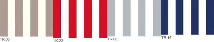 Toile transat au mètre pour chilienne L43cm Haut de gamme 320g/m² rayé le mètre