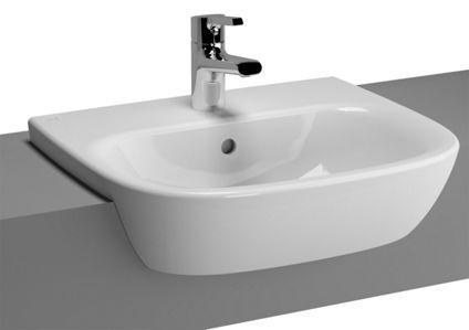 Vitra Zentrum Semi Recessed Basin 500 x 440 mm 1 Tap Hole 5635B003-0001