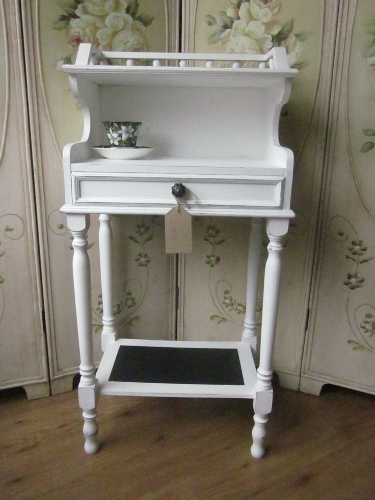 French side table Annie Sloan old white and graphite