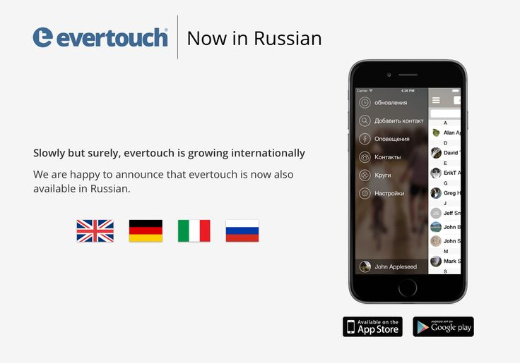 iOS version is now available in Russian. More languages will follow soon!  iPhone: http://bitly.com/1CH35Ii  Android: http://bit.ly/1HCoDqT