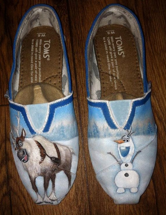 Custom Hand Painted Shoes  Frozen by FancyFeet4U on Etsy