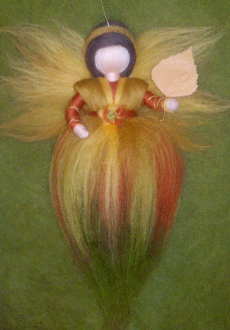 Wool fairy autumn, Waldorf inspired, Needle felted, Gift for girls, Awesome!!