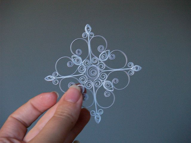 Quilled Snowflake Ornament by reesedixon, via Flickr