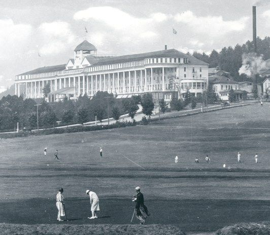Grand Hotel and Golf Course, Mackinac Island, circa 1915, still just as beautiful in 2012, want to go back!