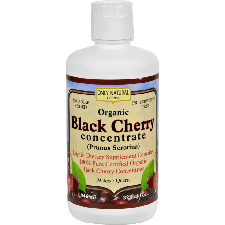 Only Natural Organic Black Cherry Concentrate - 32 fl oz - Only Natural Organic Black Cherry Concentrate Description: Black Cherry Concentrate (Prunus Serotina ) Liquid Dietary Supplement Contains 100% Pure Certified Organic Black Cherry Concentrate Makes 7 Quarts No Sugar Added Preservative Free Only Naturals Black Cherry Concentrate liquid dietary supplement has no sugar added, no filler juices or water, is preservative-free and is 100% certified organic, the way nature intended. Free Of…