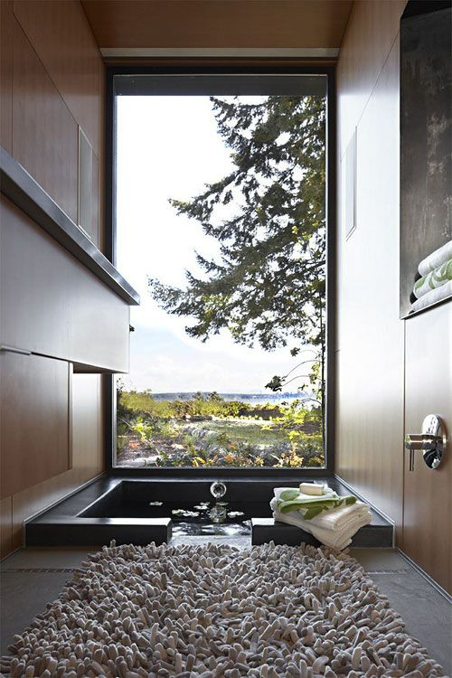 a view of nature can be seen from this residential spa.  design credit, coates design.