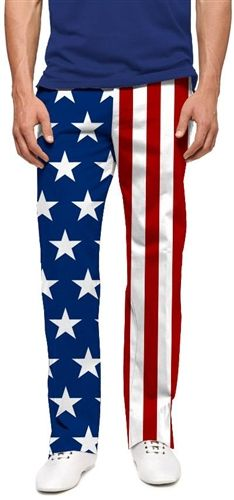 Mens Golfing Pants by Loudmouth Golf - Stars and Stripes.  Buy it @ ReadyGolf.com