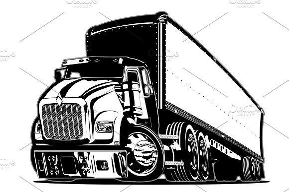 Cartoon Semi Truck Semi Trucks Truck Detailing Trucks