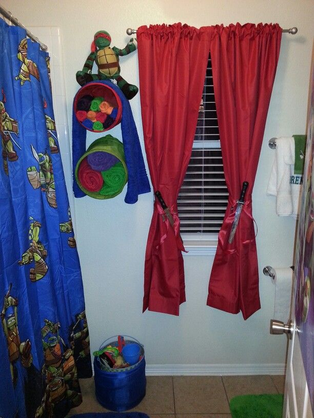 Tmnt bathroom decor  Look at the curtain tiebacks. 17 Best images about Bathroom Decor Ideas on Pinterest   Toilets