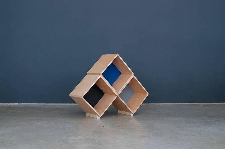 No45x Bookcase #modular #bookcase #furniture #plywood #design #interior