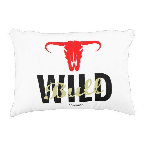 Wild Bull by VIMAGO Accent Pillow