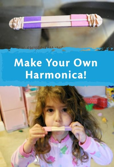 Make beautiful music with your own DIY harmonica by using simple rubber bands! | easy kids crafts