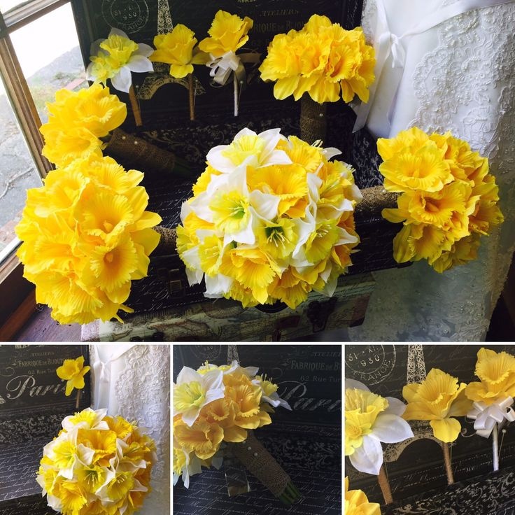 A personal favorite from my Etsy shop https://www.etsy.com/listing/198814905/daffodil-bouquet-17-piece-wedding