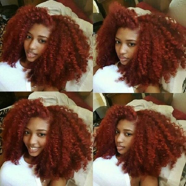 twist out red natural kinky 4c hair