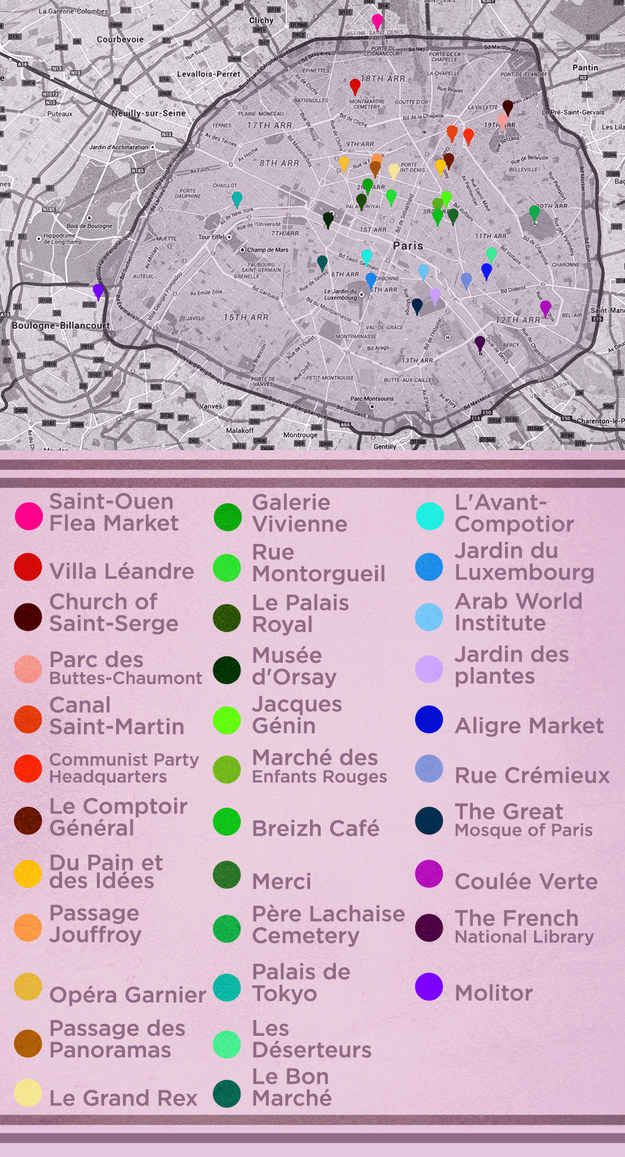 The Ultimate Parisian Guide to Paris - And, here is the map with all the places mentioned in the post :