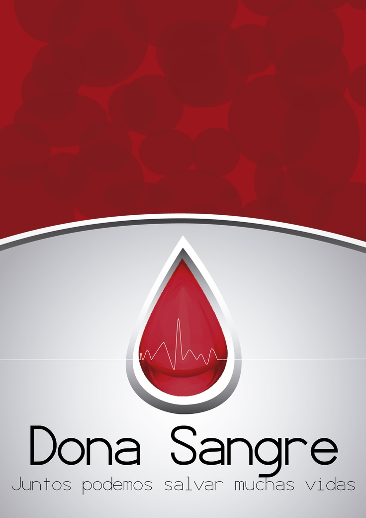 Cartel donación de sangre