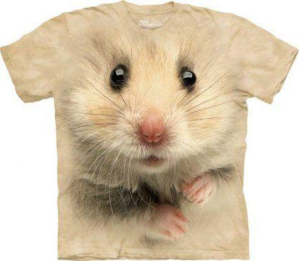 Koszulka z chomikem Hamster Face Chomik - The Mountain - www.veoveo.pl - koszulka z szopem