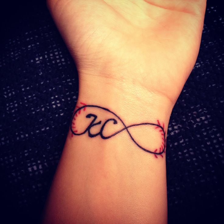 Baseball infinity tattoo