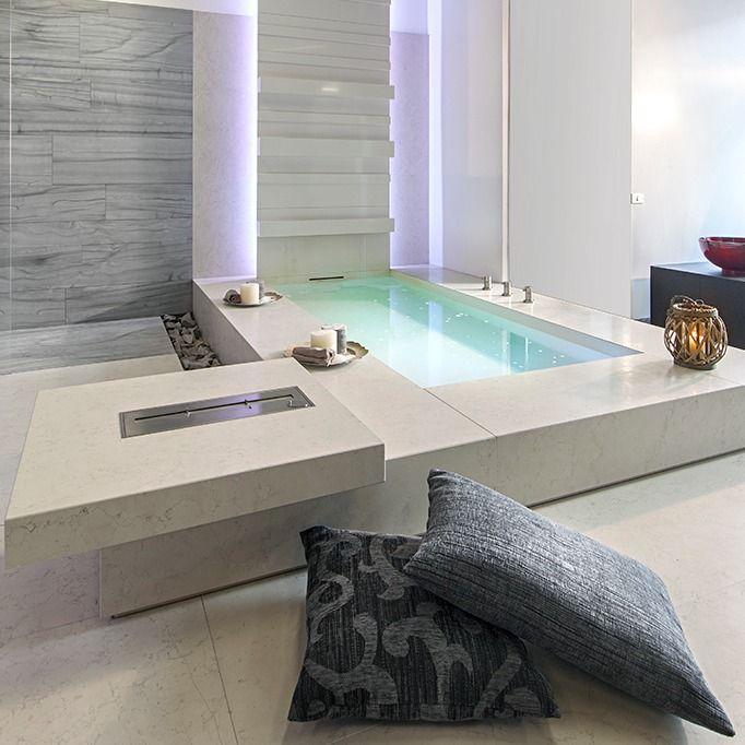 Bagni Moderni In Marmo.Vasca Da Bagno Moderna Vasca Rivestita In Marmo Idee Per Bagno