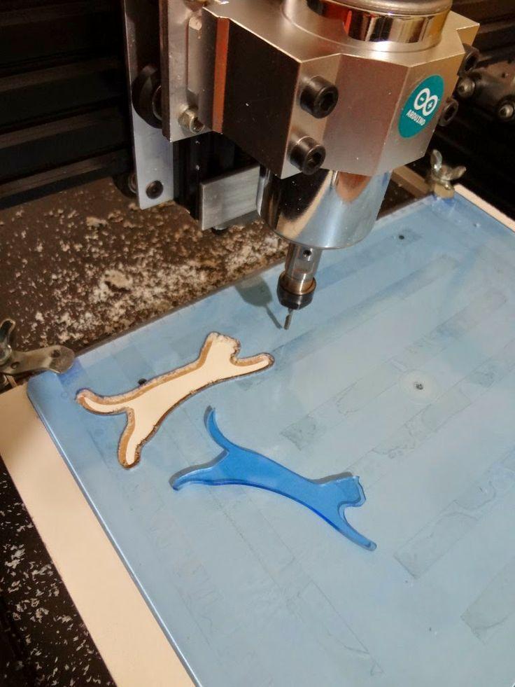 """Recorte do Logo do blog """"O Pulo do Gato"""", de empreendedorismo e inovação. Quer ter sua própria máquina CNC e fazer trabalhos assim? Acesse: Protoptimus.com"""