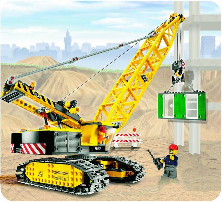 Lego - 7632 - Jeu de construction - Lego City - La grue à chenilles: Amazon.fr: Jeux et Jouets