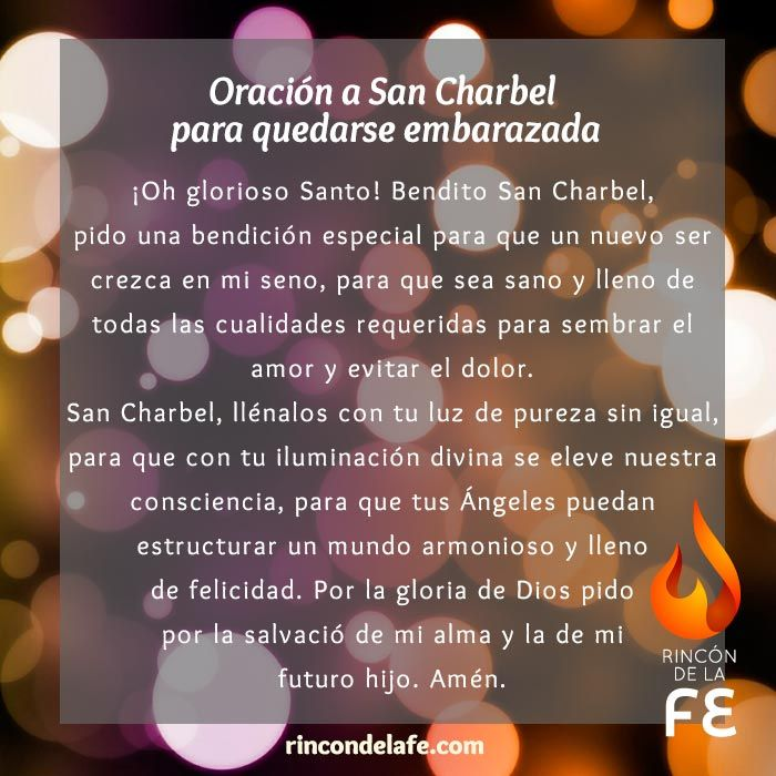 Conoce la oración a San Charbel para quedarse embarazada. Pide a San Charbel por ti y usa la oración para quedarse embarazada en tus reflexiones cristianas.