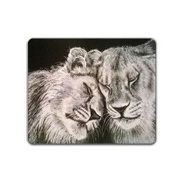 Lions in Love Mousemat