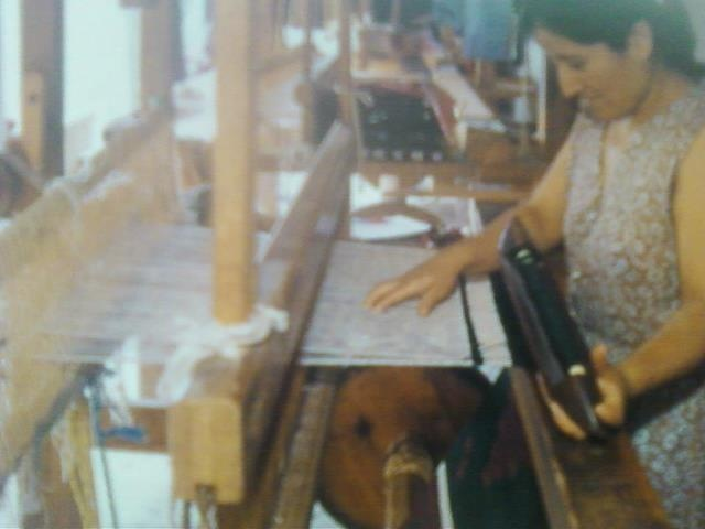 Hispanic Women Weaving