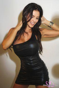 denise milani nude leather