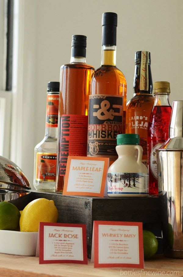 Free print out recipes for a self serve bar at your for Thanksgiving drink recipes with alcoholic