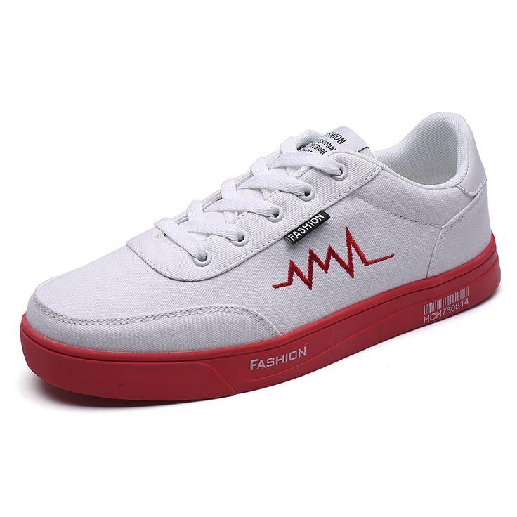 new 2017 men canvas shoes guys white tenis shoes flat casual high top mens red bottoms heren schoenen zapatos de lona hombre /05