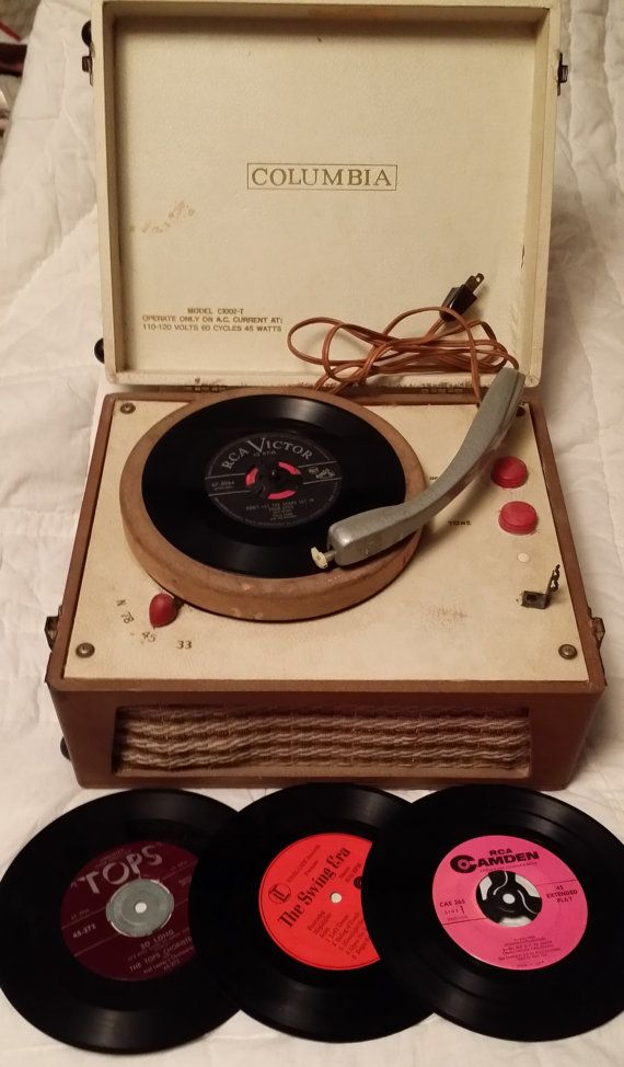 Columbia Portable Record Player vintage record by colonialcrafts, $95.00 - This is what your record player would look like if you were lucky enough to get one for Christmas.
